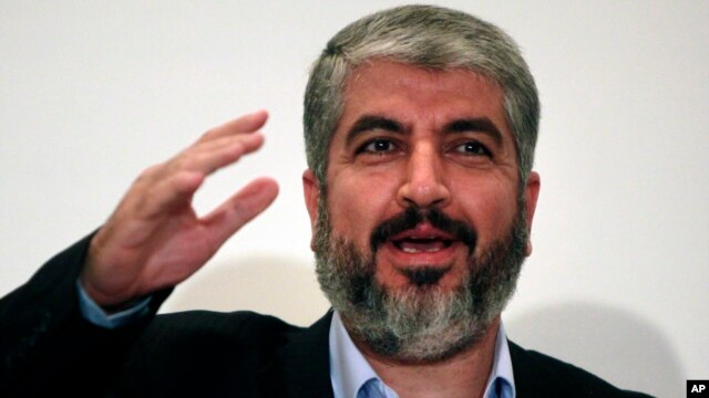 FILE - Khaled Meshaal, head of Hamas Politburo Sept .28, 2009.