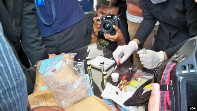 Barang bukti narkoba yang berhasil disita pihak berwajib di Jakarta (foto: Andylala Waluyo).