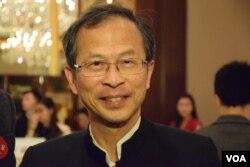 香港前立法會主席曾鈺成。(美國之音湯惠芸 攝)