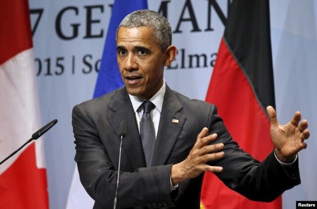 Tổng thống Barack Obama tại cuộc họp thượng đỉnh G7.