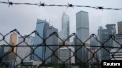 香港金融區。(2020年5月28日)
