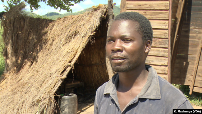 Kudzanayi Zvomuya, a small-scale gold panner in Bindura, about 100 kilometers north of Harare, says gold is a good source of income but some risks are involved.