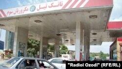 یک تانک تیل در کابل
