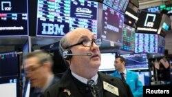 На фондовой бирже в Нью-Йорке. 25 февраля 2019 г.