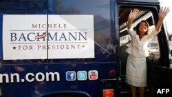 Ứng cử viên Tổng thống Mỹ Michele Bachmann của Đảng Cộng Hòa tại bang Iowa, ngày 13/8/2011