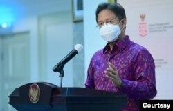Ketua Satgas PEN Budi Gunadi Sadikin dalam telekonferensi pers di Kantor Presiden , Jakarta Rabu (16/9) menyebut Indonesia bisa terhindar dari resesi dengan penyaluran berbagai stimulus (Setpres RI)