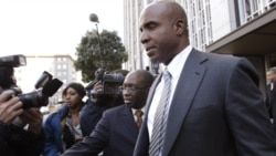 Former baseball player Barry Bonds leaves a federal courthouse during his trial in San Francisco, California