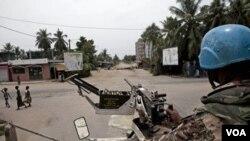 Las fuerzas de Naciones Unidas participaron de los ataques contra campos de las fuerzas del saliente presidente Gbagbo.