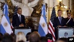 روسای جمهوری آمریکا و آرژانتین در کنفرانس خبری مشترک روز چهارشنبه
