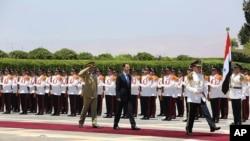 Bašar al Asad na ceremoniji polaganja zakletve ne položaj predsednika Sirije, 16. juli, 2014.