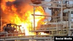 آتشسوزی در مجتمع پتروشیمی بوعلی سینا در ماهشهر