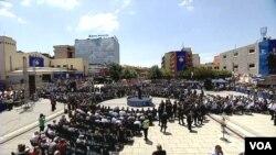 """Ceremonija """"Za našu slobodu"""" u centru Prištine, 12. juna 2019."""