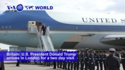 VOA60 World-United States President Donald Trump arrives in London for a two day visit