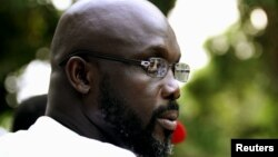 George Weah in Monrovia
