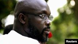 FILE - George Weah in Monrovia.
