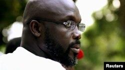 George Weah in Monrovia, November 2011 file photo.