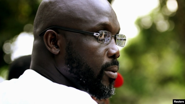 George Weah in Monrovia, November 2011 file photo.
