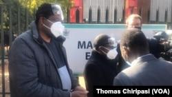 Zimbabwe Journalist Hopewell Chin'ono and Transform Zimbabwe leader Jacob Nharivhume