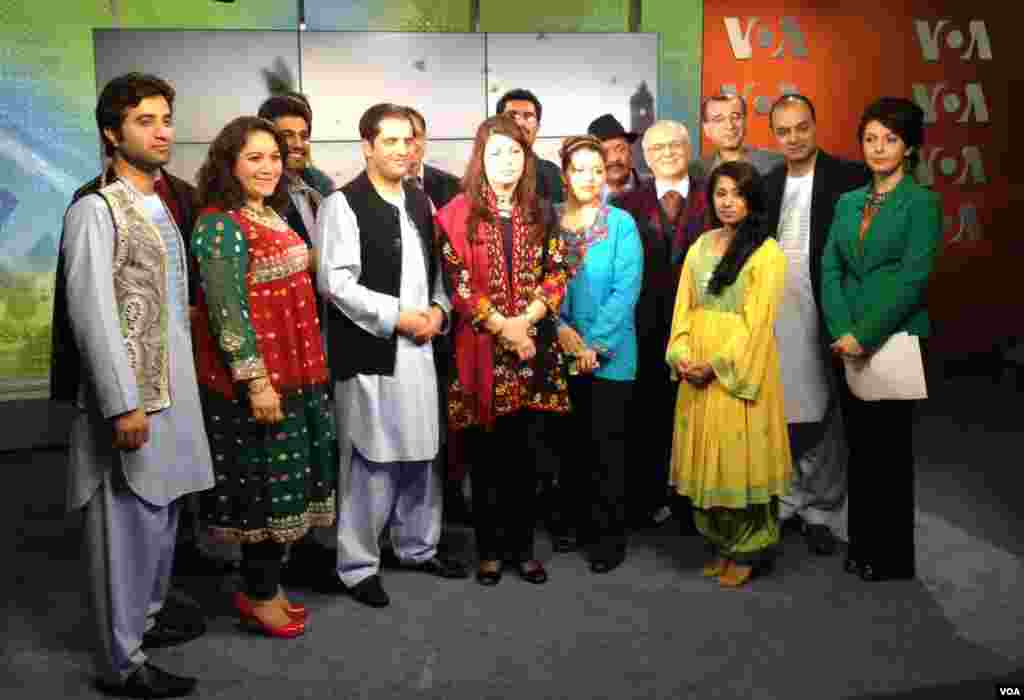 The Afghan TV Staff posed for a Nowrouz photo on March 21st, all dressed in colorful, national clothes to celebrate the New Year.