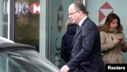 Ženevski državni tužilac, Olivije Žomo napušta švajcarsku filijalu britanske HSBC banke, 18. februar 2015.