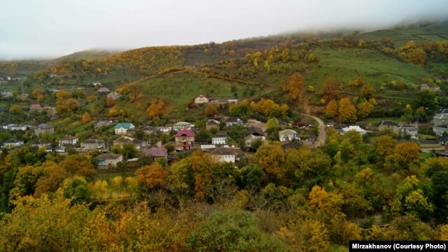 Вид на селение Акка в Табасаранском районе Дагестана