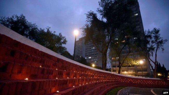 Homenaje a las víctimas del devastador terremoto de 1985, en México.