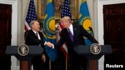 دیدار دوتالد ترامپ رئیس جمهوری آمریکا با نورسلطان نظربایف رئیس جمهوری قزاقستان در کاخ سفید - ۲۶ دی ۱۳۹۶