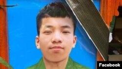 Quân nhân Trần Đức Độ, 19 tuổi, bị cho là đã treo cổ tự tử chết khi đang đi nghĩa vụ quân sự.