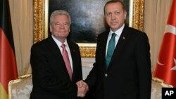 Almanya Cumhurbaşkanı Joachim Gauck Ankara'da Başbakan Erdoğan ile