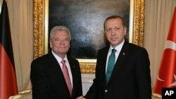 Almanya Cumhurbaşkanı Joachim Gauck ve Başbakan Recep Tayyip Erdoğan