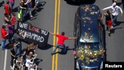 Obsèques de Mohamed Ali à Louisville, dans l'Etat du Kentucky, le 10 juin 2016