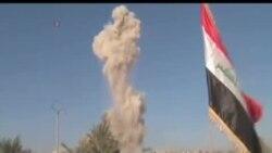 伊拉克軍隊奪回拉馬迪後在政府大樓升起國旗