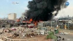 Beyrut Limanı'ndan Yine Alevler Yükseldi