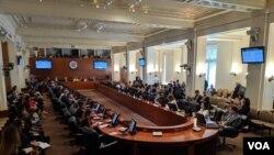 Estados Unidos ha dicho que invocará al Tratado Interamericano de Asistencia Recíproca, para reprimir al gobierno en disputa de Nicolás Maduro.