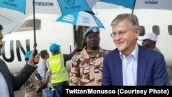 Kalaka mokonzi molandi ya ONU Jean-Piere LaCroix na bokomi na ye na Beni, Nord-Kivu, 30 novembre 2019. (Twitter/Monusco)