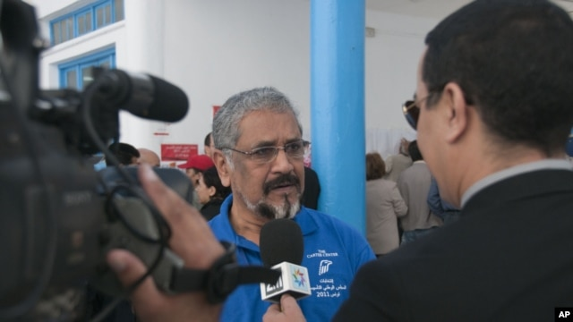 Former Mauritius President Cassam Uteem who was co-chairman of the U.S.-based Carter Center's election observer team that monitored Tunisia's poll