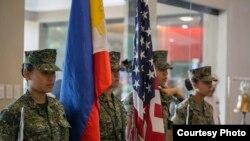 美国与菲律宾年度两栖登陆军演10月4日开幕式(美国海军陆战队照片)
