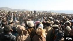 مهاجرین وزیرستانی میگویند، تا زمانی که اردوی پاکستان وزیرستان را ترک نکنند، بر نمیگردند.