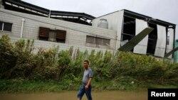 Lokasi ledakan pabrik di Kunshan. 65 orang tewas dan lebih dari 100 lainnya terluka akibat ledakan tersebut.