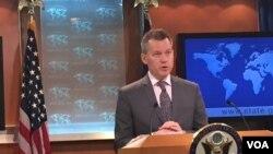 美国国务院新闻办公室主任杰夫•拉特克(美国之音张蓉湘 2015年5月15日拍摄 )