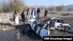 Bom di pinggir jalan Afghanistan, menewaskan 10 warga sipil di Khost, 17 December 2019.