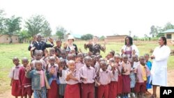 Partnership's Board of Directors visits school in Kigali Rwanda.