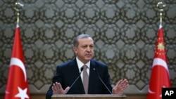 Реджеп Тайип Эрдоган. Анкара, Туция. 26 ноября 2015 г.