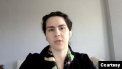 喬治華盛頓大學政治學與國際事務助理教授坎寧安(Fiona Cunningham)(卡托研究所視頻截圖)