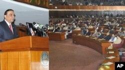Tổng thống Asif Ali Zardari đọc diễn văn trước quốc hội