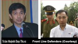 Nhà hoạt động Trần Huỳnh Duy Thức và Nguyễn Bắc Truyển.