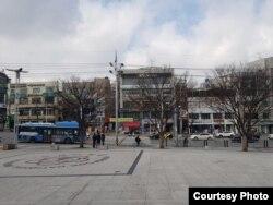 Suasana kota Daegu di Korea Selatan masih sepi (dok: Elvira Tanjung)