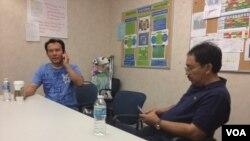Anggiat Mora Situmeang (kiri), salah satu korban penembakan Colorado. (Foto: VOA)