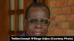Joseph N'Singa Udjuu, ministre wa Yambo ya kala ya Zaïre (RDC) awei, 24 février 2021. (Twitter/Joseph N'Singa Udjuu)