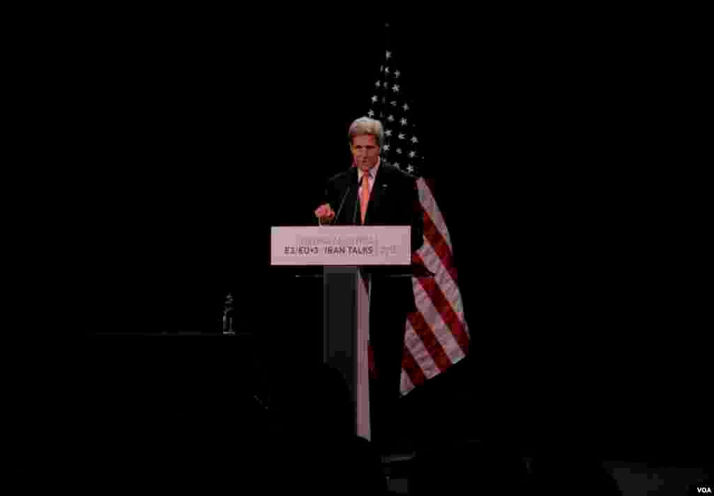 سخنان جان کری وزیر خارجه ایالات متحده درباره توافق جامع هسته ای گروه ۱+۵ با ایران